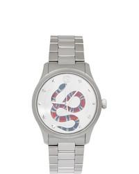 Gucci Silver G Timeless Snake Watch