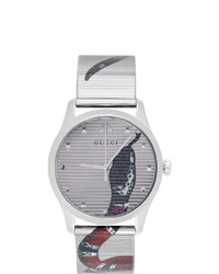 Gucci Silver G Timeless Snake Watch