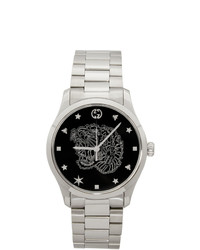Gucci Silver G Timeless Tiger Watch