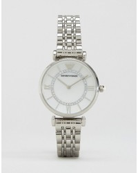 Emporio Armani Silver Gianni T Bar Watch Ar1908