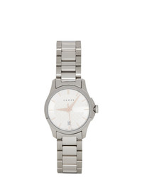 Gucci Silver Iconic G Timeless Watch