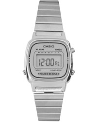 Casio Silver Mini Digital Watch La670wea 7ef