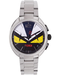 Fendi Silver Moto Bugs Watch