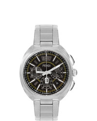 Fendi Silver Moto Chronograph Watch