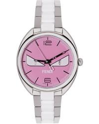 Fendi Silver Pink Moto Bugs Watch