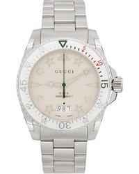 Gucci Silver White Dive Watch