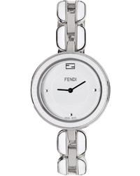 Fendi Silver White My Way Fur Glamy Watch