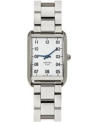 Tom Ford Silver White Stainless 001 Watch