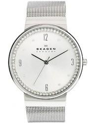 Skagen Klassik Silver Rhinestone Watch