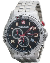 Wenger Squadron Chrono Watch Stainless Steel Bracelet