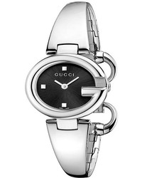 Gucci Ssima 27mm Stainless Steel Bangle Watch Ya134501