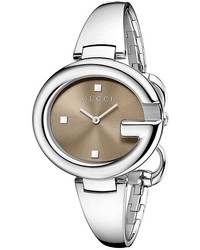 Gucci Ssima 36mm Stainless Steel Bangle Watch Ya134302 Watches