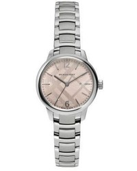 Burberry Stainless Steel Check Etched Bracelet Watch