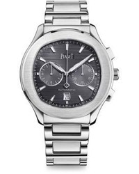 Piaget Stainless Steel Chronograph Bracelet Watch