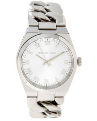 Michael Kors Stainless Steel White Dial Watch 38mm