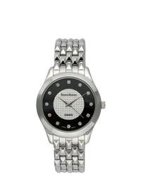 Steve Harvey Silver Round Bracelet Watch