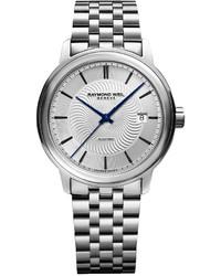 Raymond Weil Swiss Automatic Mstro Stainless Steel Bracelet Watch 40mm 2237 St 65001