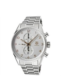 Tag Heuer Carrera Chronograph Automatic Silver Dial Watch Car2012ba0796