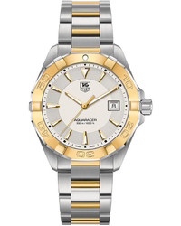 Tag Heuer Swiss Aquaracer 18k Gold Plated And Stainless Steel Bracelet Watch 41mm Way1151bd0912
