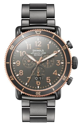 Shinola The Runwell Chronograph Bracelet Watch