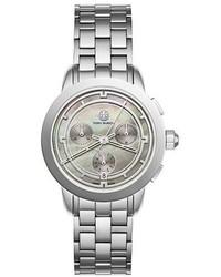 Tory Burch The Tory Classic Chronograph Watch Fogsilvertone