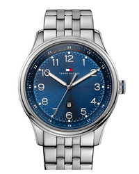 Tommy Hilfiger Round Stainless Steel Bracelet Watch 44mm Silver