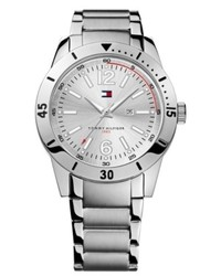 Tommy Hilfiger Watch Silver Tone Bracelet 42mm 1790865