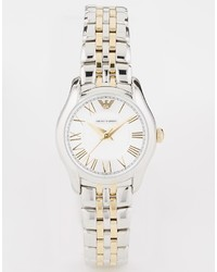 Emporio Armani Two Tone Bracelet Watch