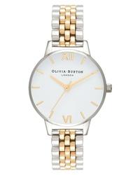 Olivia Burton Two Tone Round Bracelet Watch