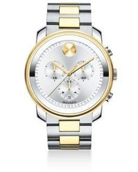Movado Two Tone Stainless Steel Chronograph Bracelet Watch