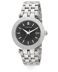 Versace V Race Stainless Steel Watch