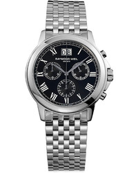 Raymond Weil Watch Swiss Chronograph Tradition Stainless Steel Bracelet 39mm 4476 St 00200