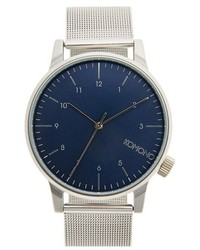 Komono Winston Round Dial Strap Watch 40mm