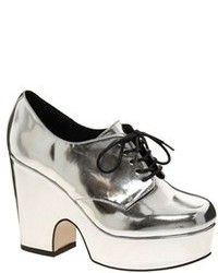 Silver wedge pumps original 9368315