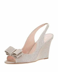 Kate Spade New York Irene Slingback Metallic Wedge Pump Silver