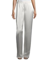 St. John Collection Liquid Satin Wide Leg Pants