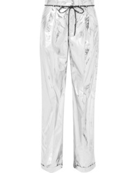 Maison Margiela Metallic Shell Wide Leg Pants