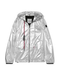 Moncler Hooded Metallic Shell Jacket