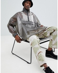 ASOS DESIGN Oversized Windbreaker In Transparent Grey