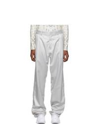 Gmbh Silver Jacquard Tarek Trousers