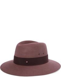 Sombrero burdeos de Maison Michel