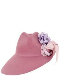 Sombrero con print de flores rosa de Gucci