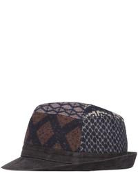 Sombrero de lana azul marino de Etro