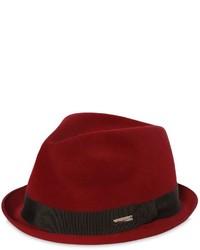 Sombrero de lana burdeos de DSQUARED2