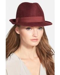 Sombrero de lana burdeos de Halogen