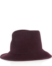 Sombrero de lana burdeos de Stella McCartney