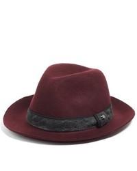 Sombrero de lana burdeos de Ted Baker