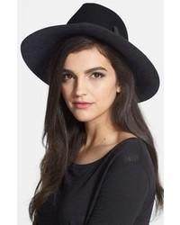 Sombrero de lana en gris oscuro de Kate Spade