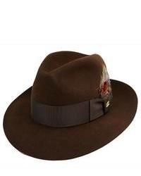 Sombrero de lana en marrón oscuro