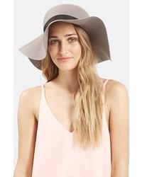 Sombrero de Lana Gris de Topshop